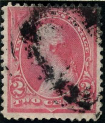 Scott 248 Washington 2 Cents Stamp Pink