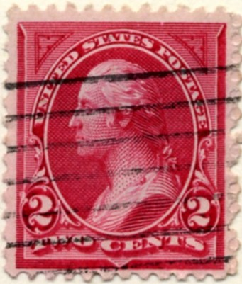 Scott 249 Washington 2 Cents Stamp Carmine Lake Type 1 a