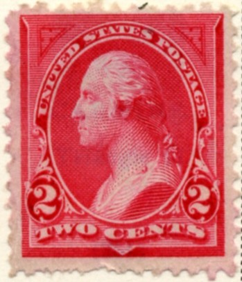 Scott 251 Washington 2 Cents Stamp Carmine Type 2 a