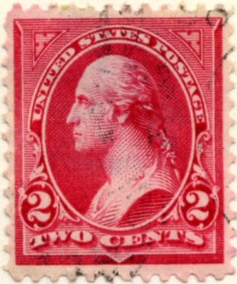 Scott 252 Washington 2 Cents Stamp Carmine Type 3 a