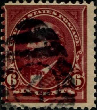 Scott 282 Garfield 6 Cent Stamp Lake