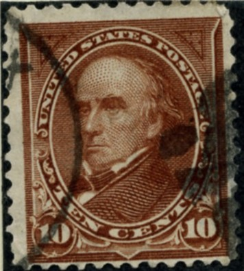 Scott 282c Webster 10 Cent Stamp Brown