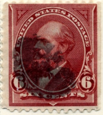Scott 282 Garfield 6 Cent Stamp Lake a
