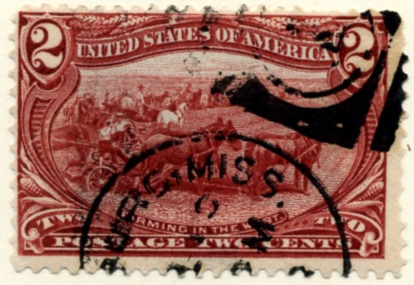 Scott 286 2 Cent Stamp Copper Red Trans-Mississippi Exposition a