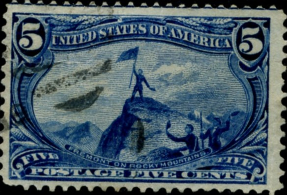 Scott 288 5 Cent Stamp Dull Blue Trans-Mississippi Exposition