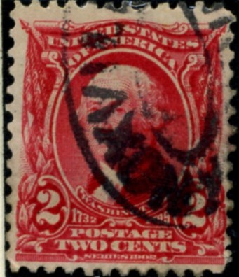 Scott 301 Washington 2 Cent Stamp Carmine Definitive