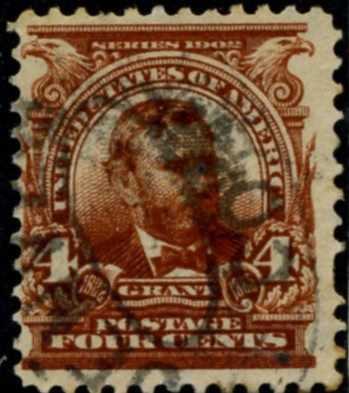 Scott 303 Grant 4 Cent Stamp Brown Definitive
