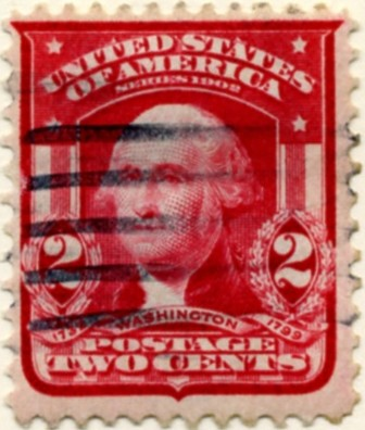 Scott 319 Washington 2 Cent Stamp Carmine a