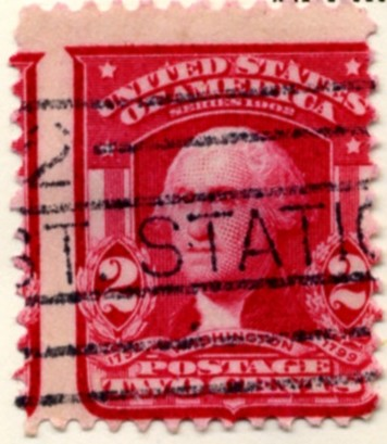 Scott 319 Washington 2 Cent Stamp Carmine b