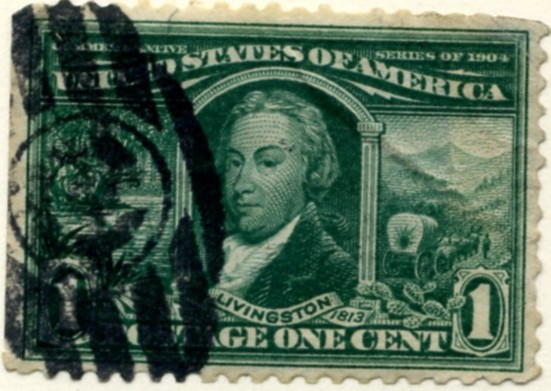 Scott 323 1 Cent Stamp Green Louisiana Purchase a