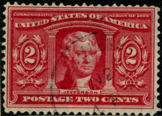 Scott 324 2 Cent Stamp Carmine Louisiana Purchase