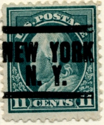 Scott 511 11 Cent Stamp Light Green Washington Franklin Series perforated 11 no watermark a