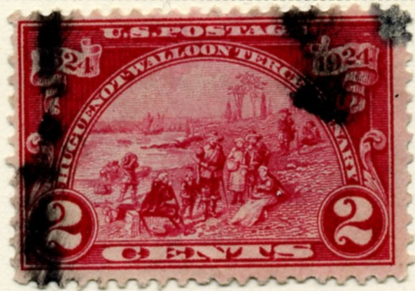 Scott 615 2 Cent Stamp Carmine Rose Huguenot Walloon Issue a