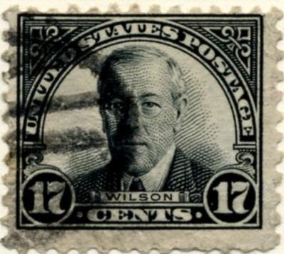 Scott 623 Wilson 17 Cent Stamp Black 1922-1925 Series Perforated 11 a