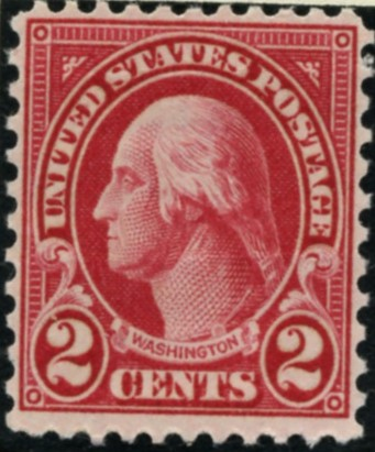 Scott 634 Washington 2 Cent Stamp Carmine Type 1 Series of 1922-1925 Perforated 11x10 1/2