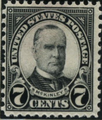 Scott 639 McKinley 7 Cent Stamp Black Series of 1922-1925 Perforated 11x10 1/2
