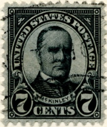 Scott 639 McKinley 7 Cent Stamp Black Series of 1922-1925 Perforated 11x10 1/2 a