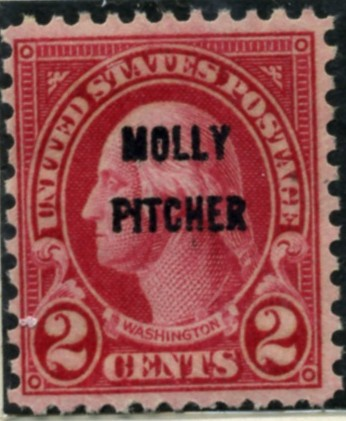 Scott 646 Washington 2 Cent Stamp Molly Pitcher