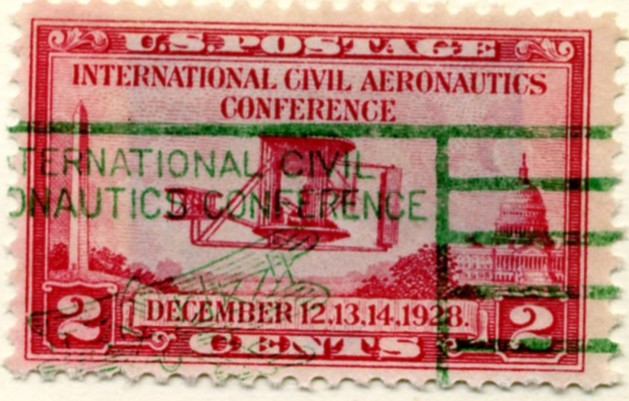 Scott 649 2 Cent Stamp International Civil Aeronautics Conference a
