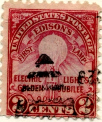 Scott 654 2 Cent Stamp Edison Light Bulb Perforated 11 a