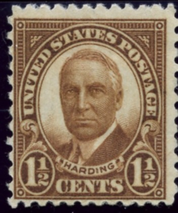 Scott 684 1 1/2 Cent Stamp Warren G Harding