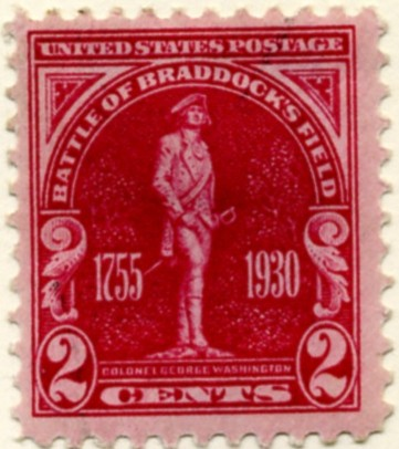 Scott 688 2 Cent Stamp Battle of Braddock's Field a