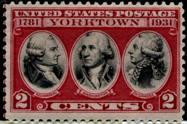 Scott 703 2 Cent Stamp Surrender at Yorktown