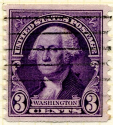 Scott 721 3 Cent Stamp George Washington Coil Stamp Perforated vertically c