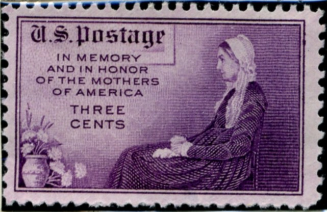 Scott 737 3 Cent Stamp Mother's Day Perforated 11x10 1/2