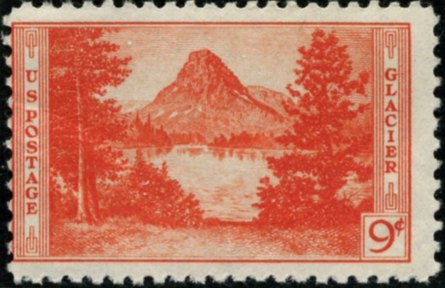 Scott 748 9 Cent Stamp Glacier National Park