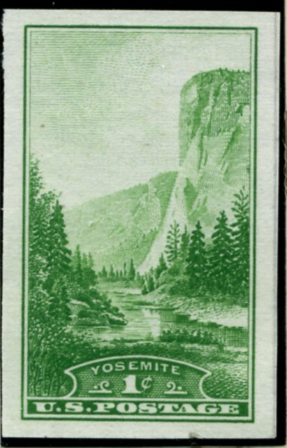 Scott 756 1 Cent Stamp Yosemite National Park Farley Special Printing