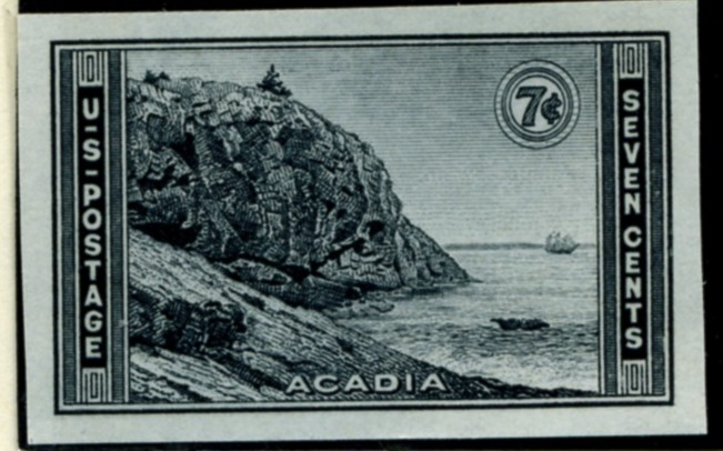 Scott 762 7 Cent Stamp Acadia National Park Farley Special Printing
