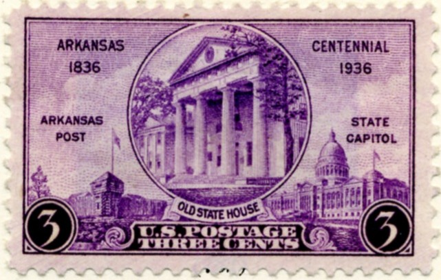 Scott 782 3 Cent Stamp Arkansas Centennial a