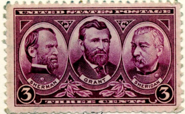 Scott 787 3 Cent Stamp Sherman, Grant, and Sheridan a