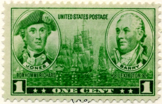 Scott 790 1 Cent Stamp Jones and Barry a