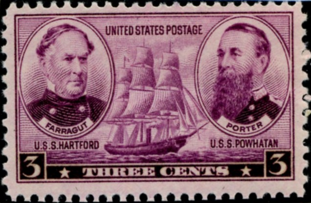 Scott 792 3 Cent Stamp Farragut and Porter