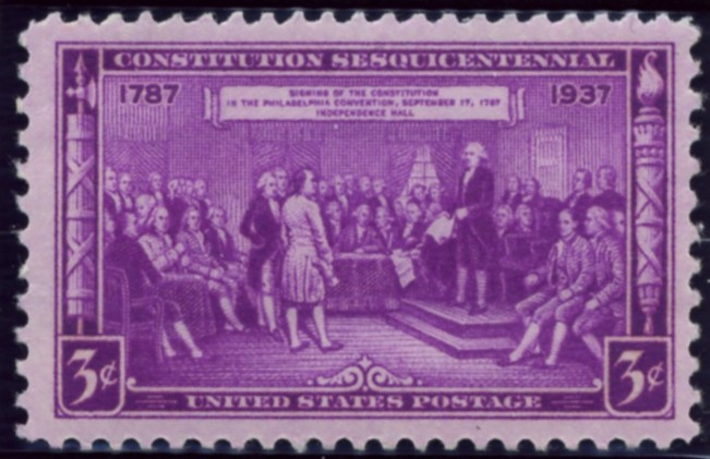 Scott 798 3 Cent Stamp Constitution Sesquicentennial