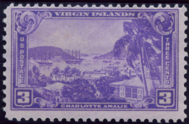 Scott 802 3 Cent Stamp Charlotte Amalie Virgin Islands