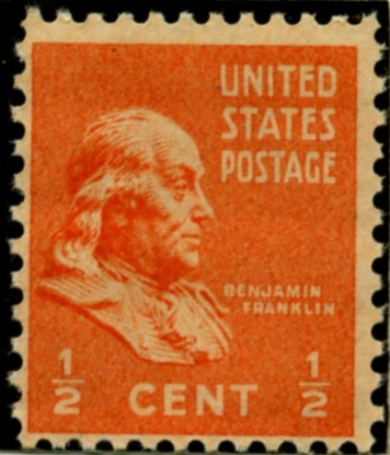 Scott 803 1/2 Cent Stamp Benjamin Franklin