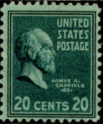 Scott 825 20 Cent Stamp James A Garfield