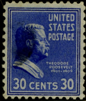 Scott 830 30 Cent Stamp Theodore Roosevelt