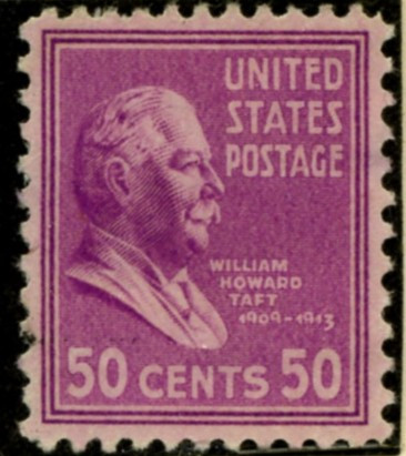 Scott 831 50 Cent Stamp William Howard Taft