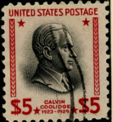 Scott 834 $5 Dollar Stamp Calvin Coolidge