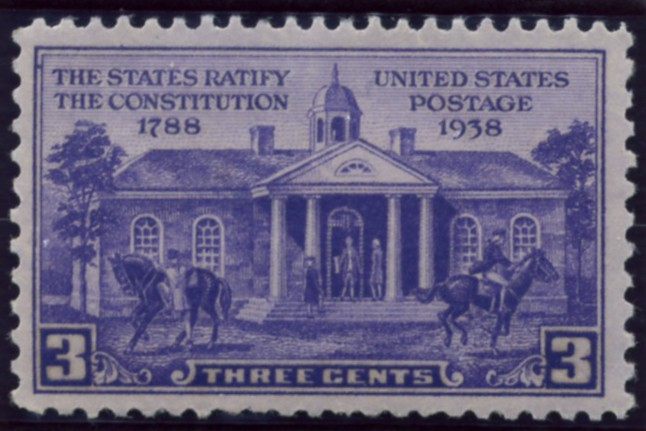 Scott 835 3 Cent Stamp Constitution Ratification