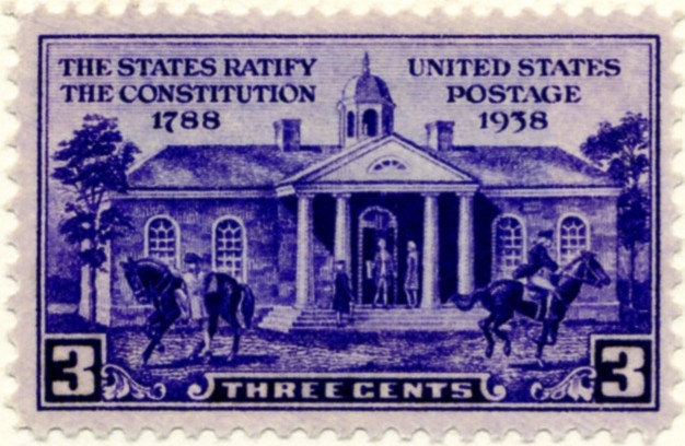 Scott 835 3 Cent Stamp Constitution Ratification a