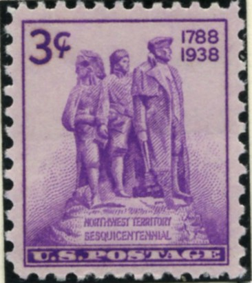 Scott 837 3 Cent Stamp Northwest Territory Sesquicentennial