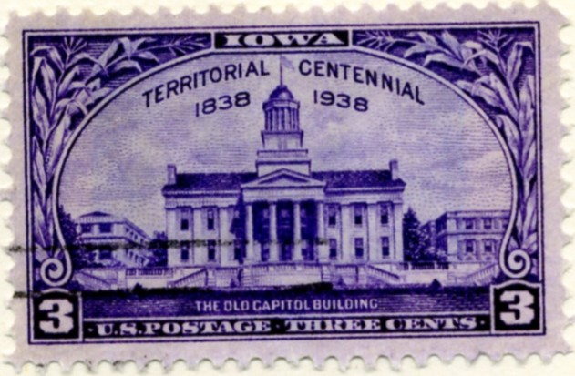 Scott 838 3 Cent Stamp Iowa Territory Centennial a