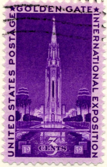Scott 852 3 Cent Stamp Golden State Exposition b