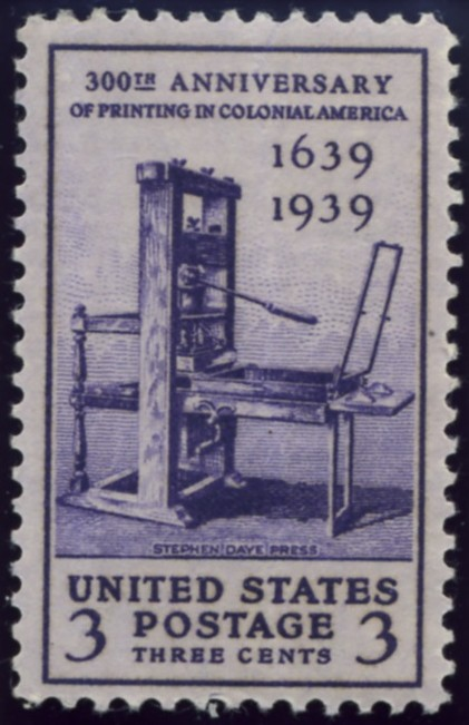 Scott 857 3 Cent Stamp Colonial Printing