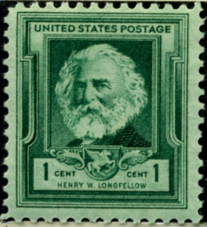 Scott 864 1 Cent Stamp Henry Wadsworth Longfellow